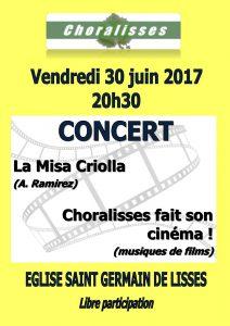 Notre dernier concert le 30 juin 2017