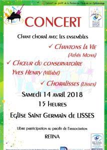 Prochain concert le 14 avril 2018