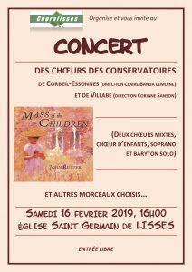 Un prochain concert organisé par Choralisses